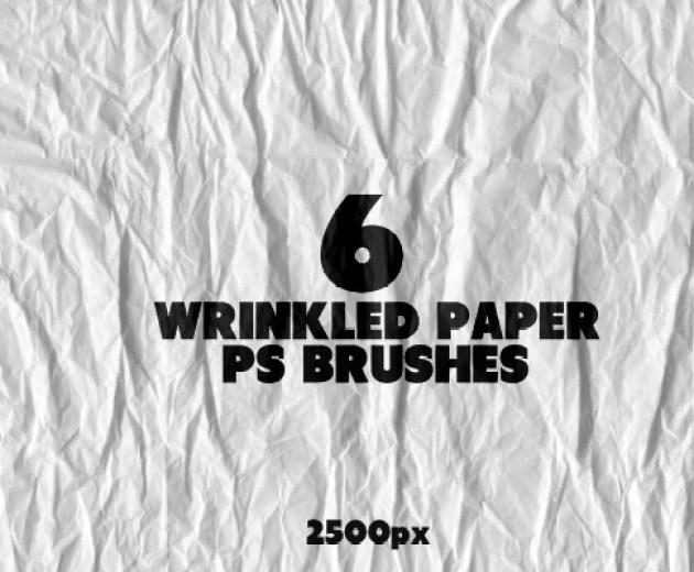 6 Wrinkled Paper PS Brushes