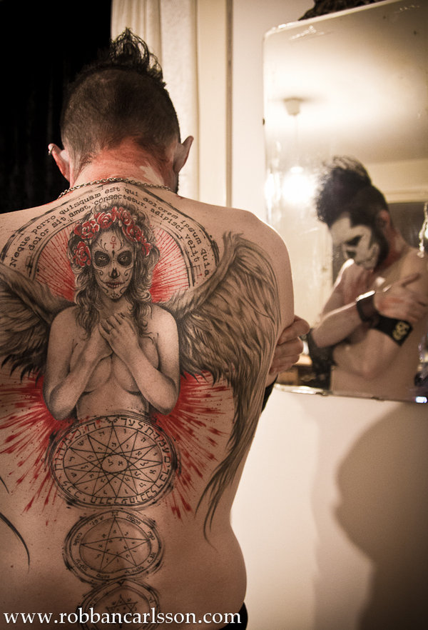 Day of the Dead Angel Tattoo