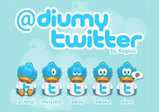15 Twitter Icon Set