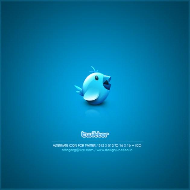 5 Twitter Icon Set