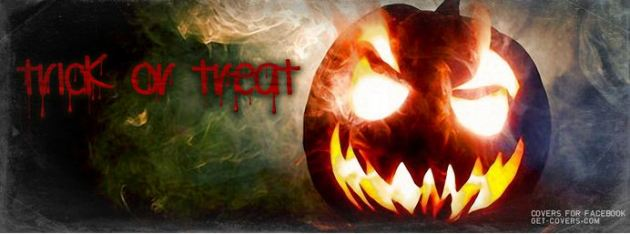 trick or treat halloween facebook cover
