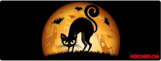 Halloween Cat Facebook Cover