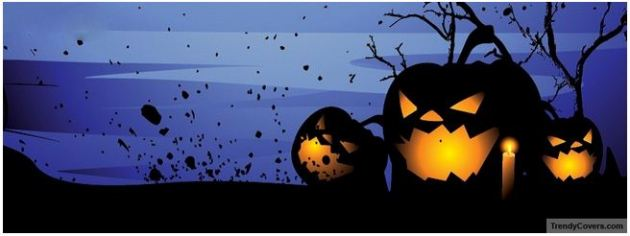 scary pumpkins halloween facebook cover picture