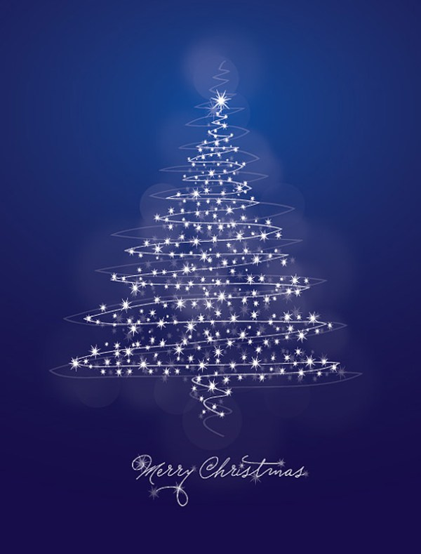 abstract christmas tree wallpaper