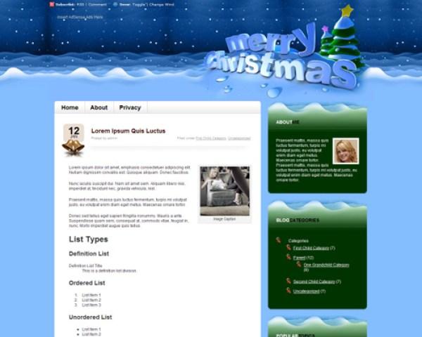 Merry Christmas Theme