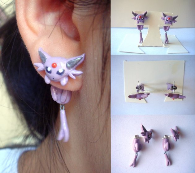Clinging Espeon Earrings