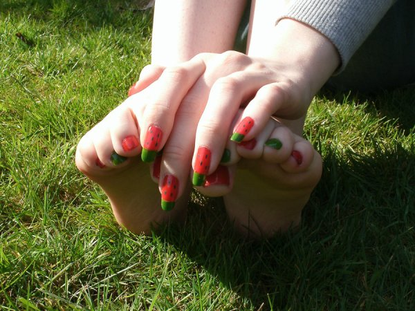 Watermelon Fingers and Toes