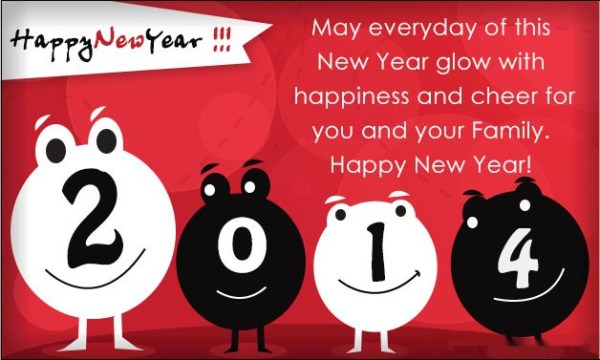 Happy New Year 2014 Greeting Cards 4