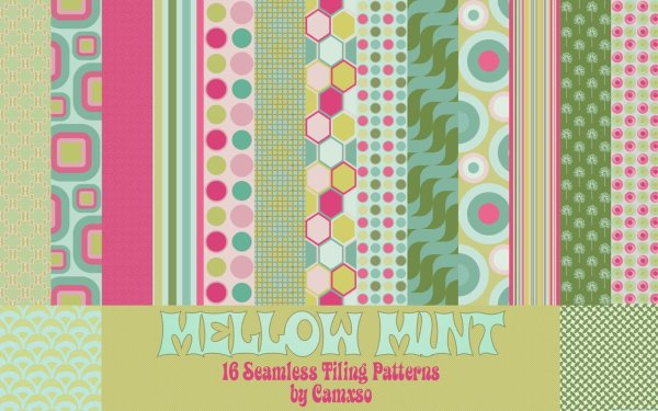 Mellow Mint Photoshop Patterns