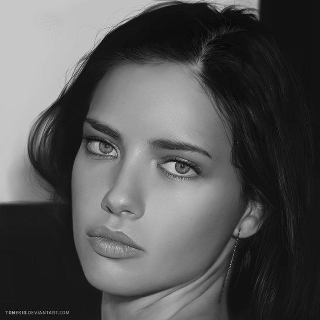 Digital Painting - Adriana Lima