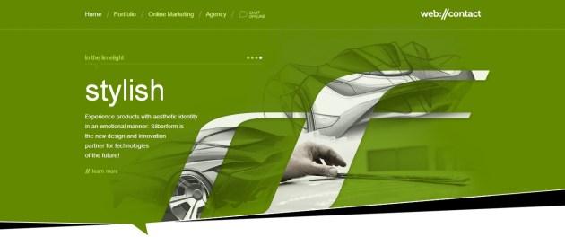 Green Website Design - Web Contact