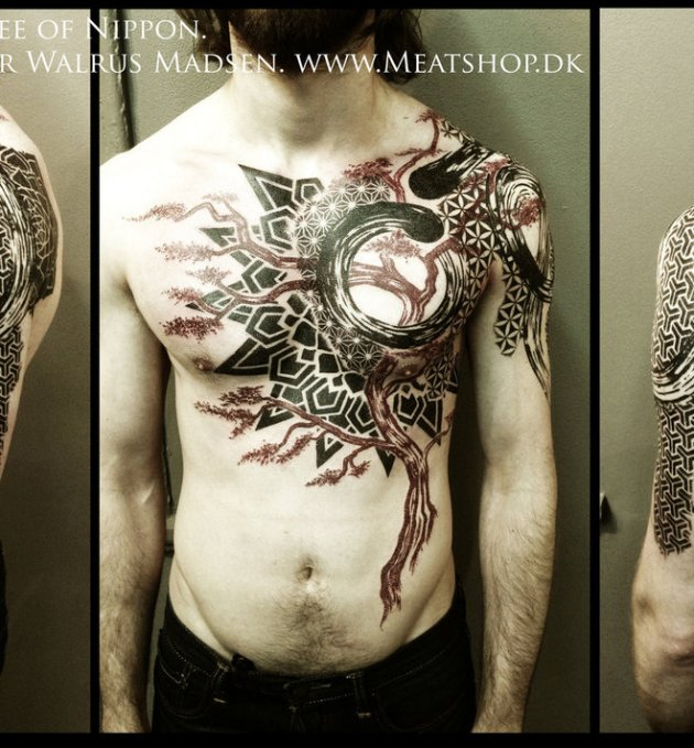 Spirit tree of Nippon tattoo