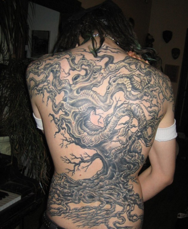 tree tattoo backpiece