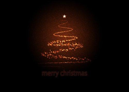 Starry Xmas Tree Greeting Card
