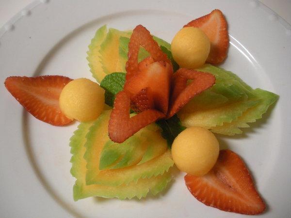 thai melon plate