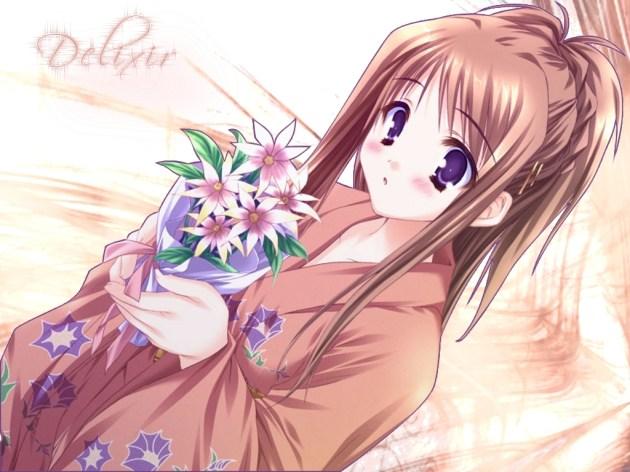 Flower Girl Anime Wallpaper