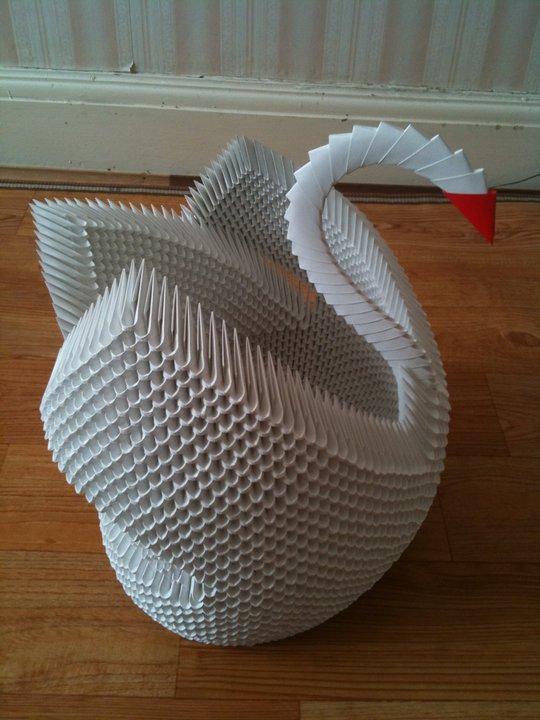 Swan- 3D Origami Model