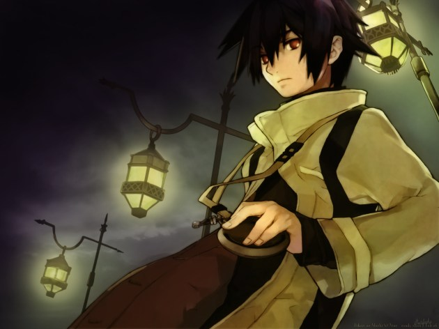 anime dark gothic boy