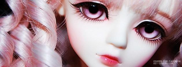 cute doll face facebook profile photo