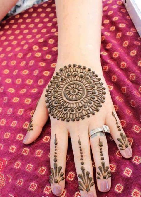 beautiful tikka design for hands