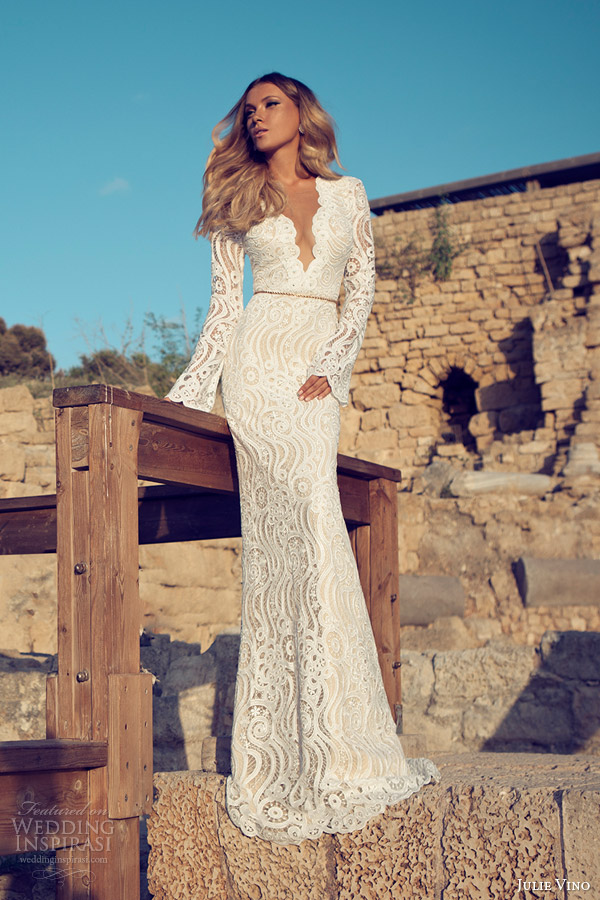 bridal long sleeve gown