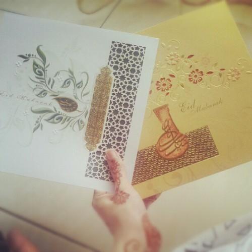 eid mubarak card photo