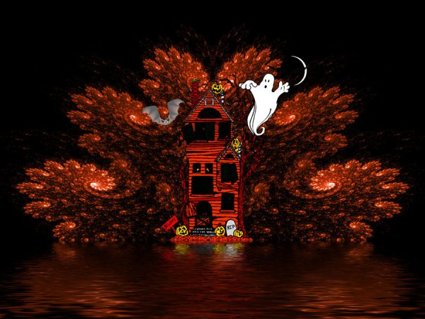 Halloween fractal Wallpaper