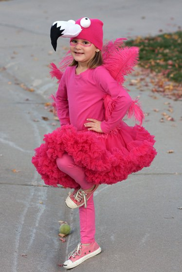 flamingo halloween costume for little girls