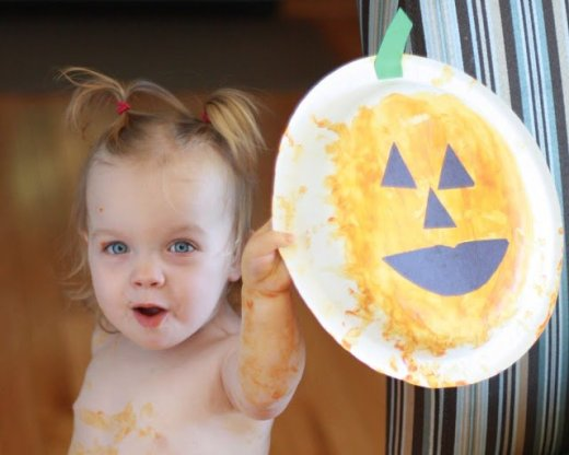 pumpkin face simple halloween craft for kids