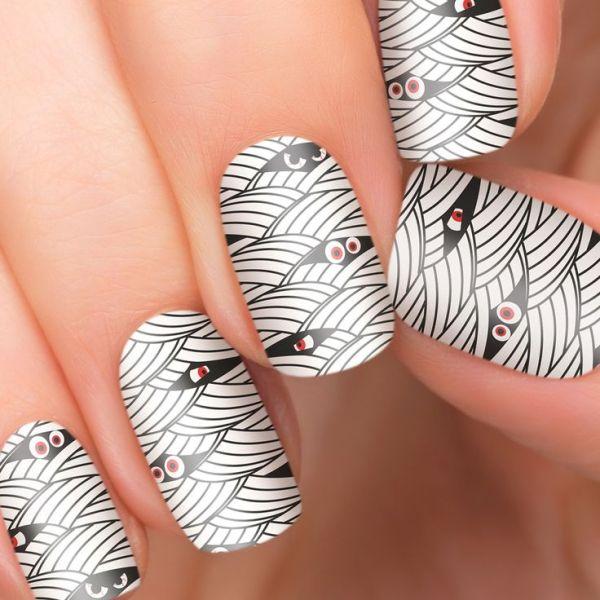 spooky eyes halloween nail art stickers