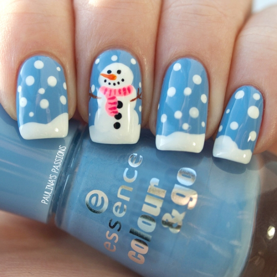 snow winter nails