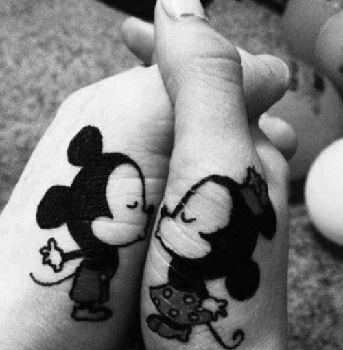 Cutest-Baby-Mickey-and-Minnie-Mouse-tattoo