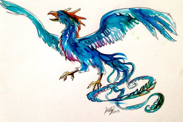 Amazing Bird Tattoo Sketch
