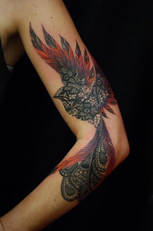 Flyingbird Artistic Tattoo Design