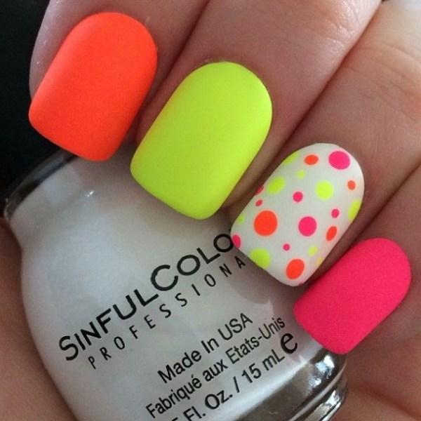 unique stylish neon nails