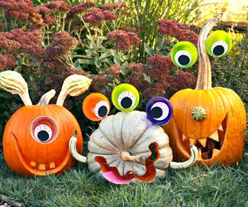 happy-monster-pumpkins