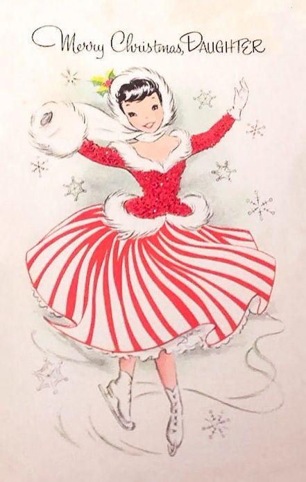 Merry Christmas Daughter postcard