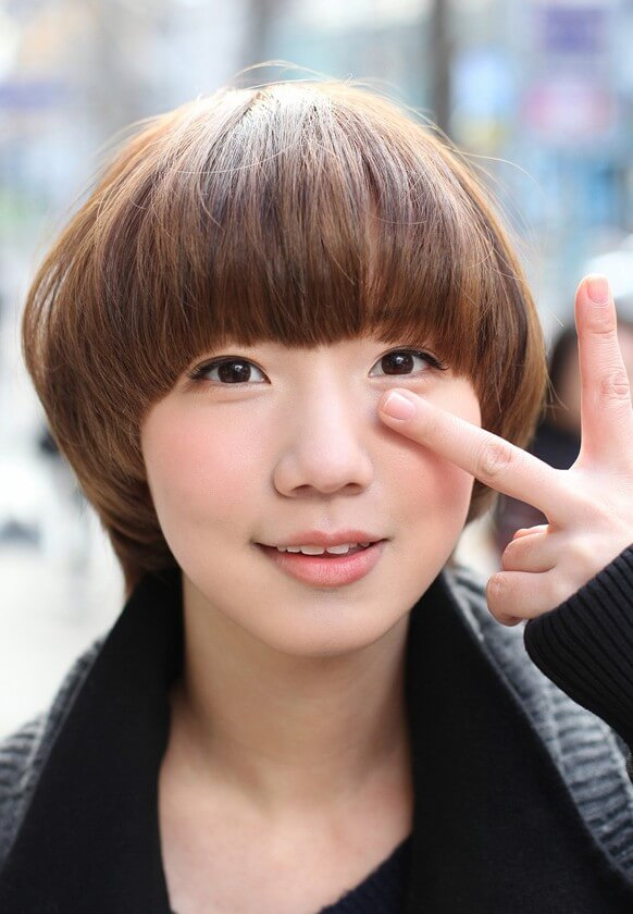 Asian Bob Mushroom Haircut