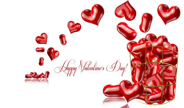 Happy Valentines Day hearts background