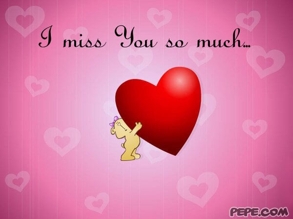 i miss you heart photos