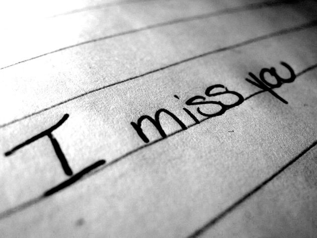 i miss you writting on paper