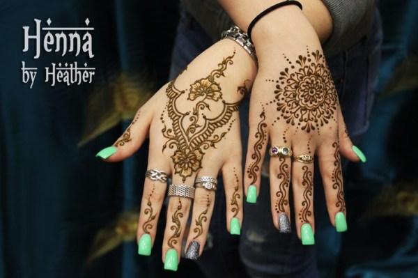 latest back hand mehndi pattern