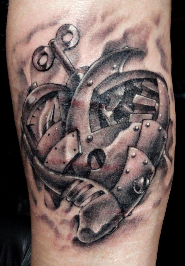 steampunk heart locker tattoo