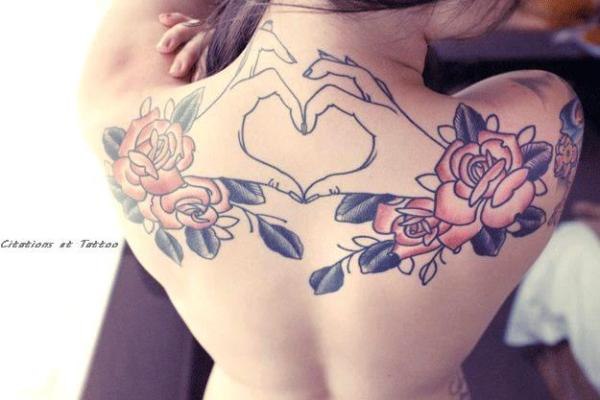 Unique Tattoo On Girl Back