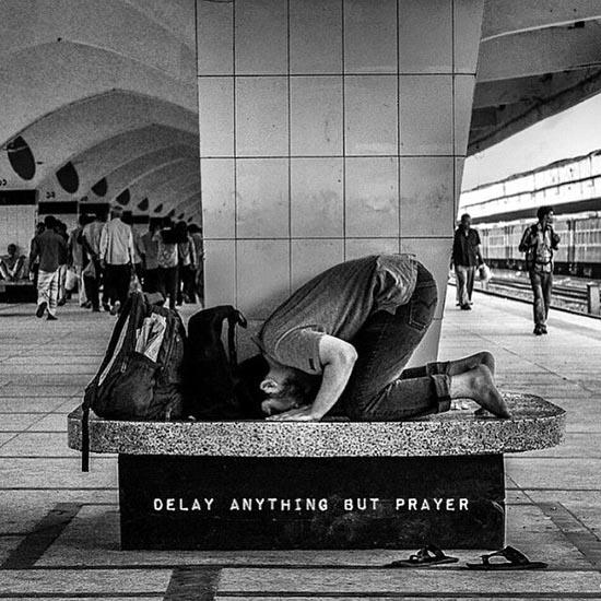prayer namaz at station