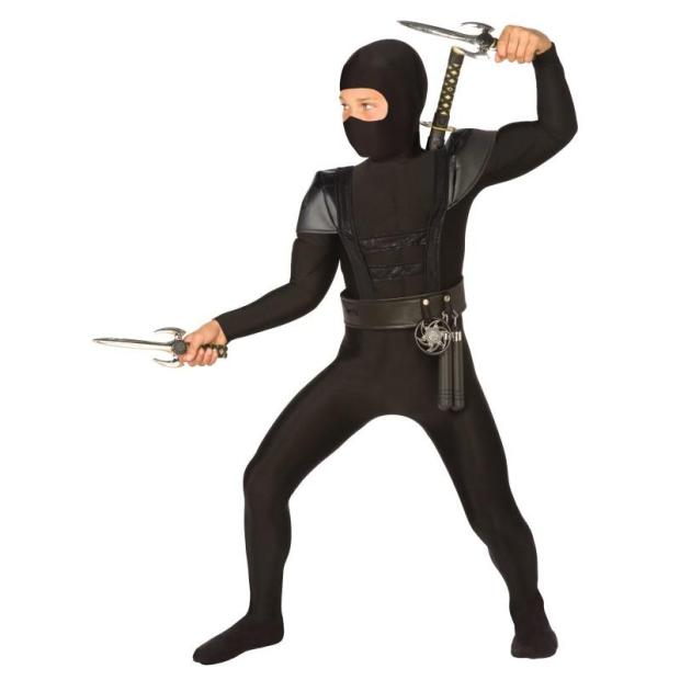 Black Fighter Ninja Children Costumes