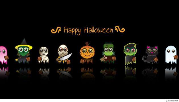 Happy Halloween cartoons wallpaper