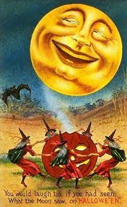halloween funny vintage postcard