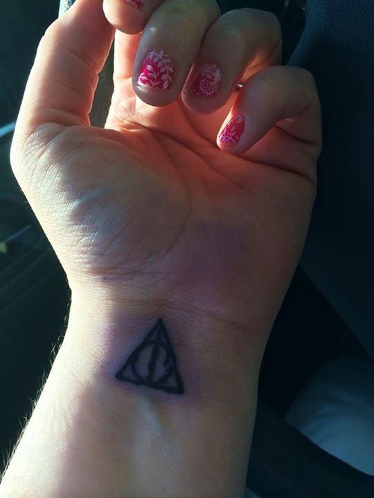 Deathly Hallows wrist Tattoo