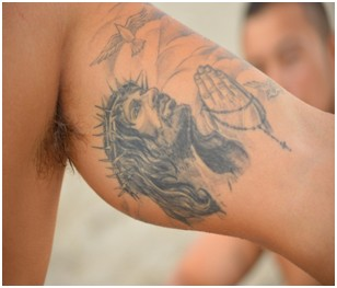 Jesus Rosary tattoo